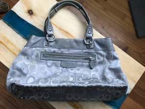 Used Authentic Coach Purse/Handbag (Grey)