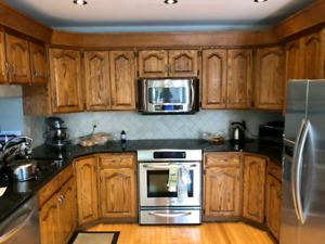 Pristine kitchen cabinets