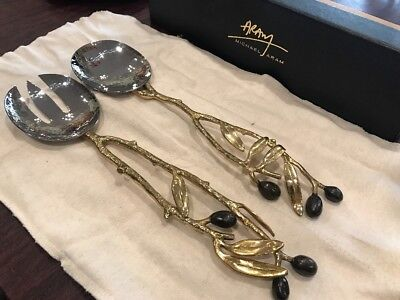 Michael Aram Olive Branch Gold Serving Set Michael Aram Olive