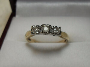"10kt y/w gold ""Trinity"" Diamond Engagement Anniversary  Ring"