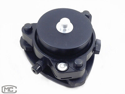Black Tribrach With Optical Plummetfixed Adapter 58x11 Mount For Surveying