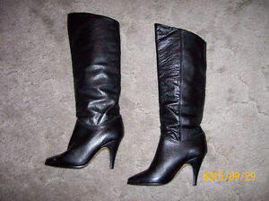 FOUR PAIRS OF STYLISH SIZE 9 BOOTS (ONE PAIR NEW NEVER WORN)