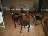 Six Antique Dinning Chairs From Early 1900's