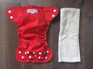 APPLECHEEK SIZE 1 CLOTH DIAPER/COUCHE LAVABLE