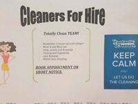 Moving?  Need a cleaner?