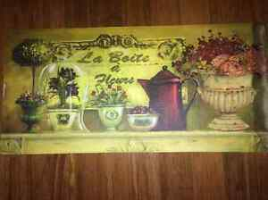 Hand-Painting - La Boite a Fleurs (15inx31in - frameless) West Island Greater Montréal image 1