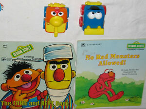 2 x Sesame Street Books & 2 Toy Car Figures (Lot # 3) London Ontario image 1