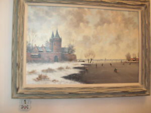 stations of the cross AND,j.schuiermanni winter oil painting