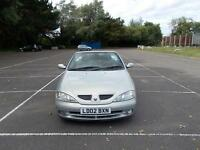 2002 RENAULT MEGANE AUTOMATIC CONVERTIBLE HPI CLEAR WARRANTY INC