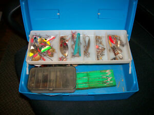 Small Tackle Box 10 Erie Dearies Plus Other Tackle