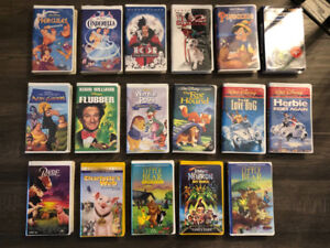 Collection of Walt Disney VHS Movies, Black Diamond Edition.