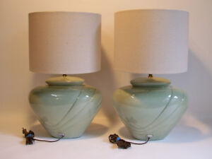 2 Lampes de Table 1987 - 2 Ceramic Table Lamps from 1987