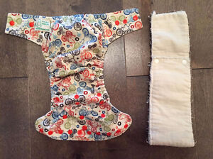 "JACABUM ""LITTLE BICYCLE"" CLOTH DIAPER/COUCHE LAVABLE"