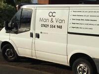 CC Man & Van. Removals. House Clearances. Pick-ups, Deliveries.