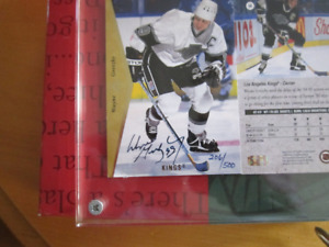 WAYNE GRETZKY AUTOGRAPH CARD NUMBERED TO 500