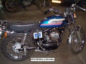 1974 Z90 AMF Aermacchi Harley Davidson imported from Italy.