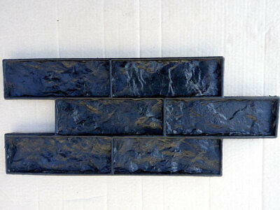 Stone Decorative Polyurethane Concrete Stamp Form Chipped Brick 2in1