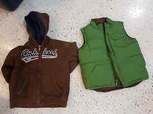 Boys 4T vest and hoodies