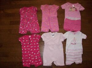 Girls Pajamas, Size Newborn to 3-6 months