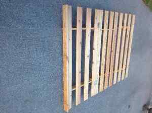 foldable wood bed frame - queen size