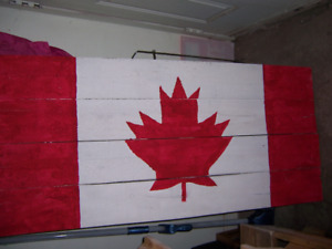 """Real wood Canadian Flag boards 22X36"""" + 22X48"""" $50 each"""