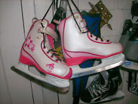 GIRLS CCM FIGURE SKATES SIZES 1,2,3,4,AND WOMAN'S SIZE11