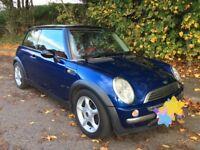 Mini Cooper Blue 1.6 Full Years MOT