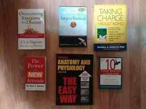 6 good condition books - $20 takes them all
