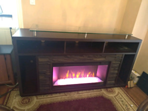 Muskoka TV stand with fireplace Insert