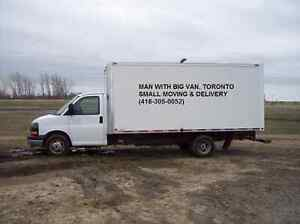 Man with BIG VAN-small moving & delivery -416-305-0052 cheap