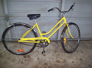 VINTAGE FEMALE SCHWINN LOOP FRAME 3 SPEED CITY BIKE