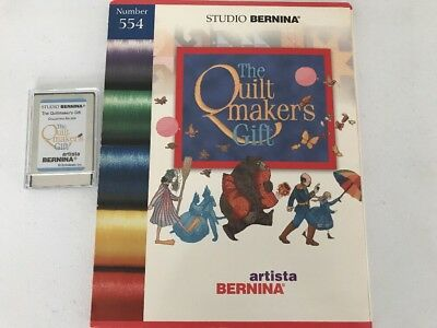 Bernina Quilt Maker's Gift #554 Embroidery Designs Card Artista 165-180 200 730 Quiltmaker Quilting Designs