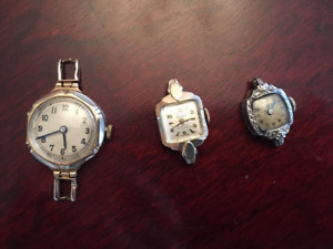 4 Vintage SOLID GOLD watches
