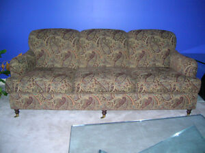 "Three-seater designer sofa 84""w x 41""d x 35""h"
