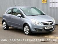 2007 VAUXHALL CORSA 1.4i 16V Design 3dr new MOT very clean