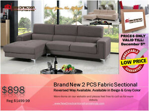 ◆BLACK FRIDAY WEEK! Brand New 2PCs CORDUROY Sectional@NEWD Edmonton Edmonton Area image 3