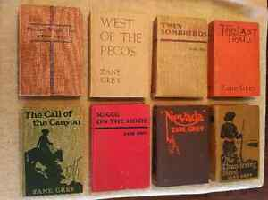 Vintage Zane Grey hardcover books