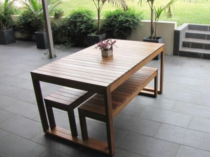 Brand New Hardwood Timber Outdoor Table and Benches. Made in Oz Brisbane City Brisbane North West Preview