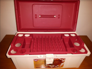 Wilton cake decorating caddy and supplies