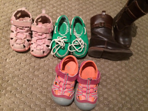 Girls Shoes, Sandals, Boots Size 5