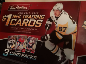 "*** TIM HORTON'S Hockey Card ""SIGN"" ~ CROSBY ~ NHL Poster 16-17"