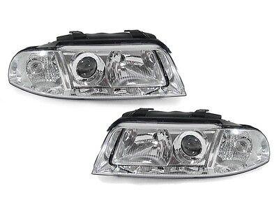 DEPO ECode Chrome Projector Headlight Pair For 99-01 Audi A4 / 00-02 S4 B5.5 (01 A4 Avant Wagon)