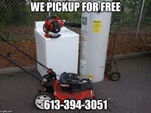 FREE PICKUP TODAY YOUR SCRAP METAL, APPLIANCES 613-394-3051