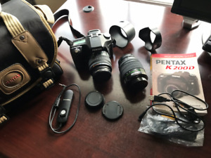 Pentax DSLR camera and accessories