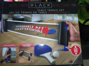 Brand New Blackset Ping pong + 2nd included table tennis set