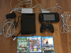 SELLING WII U + ACCESSORIES + 3 GAMES ($200)