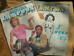 2 National Lampoon Humor Magazines