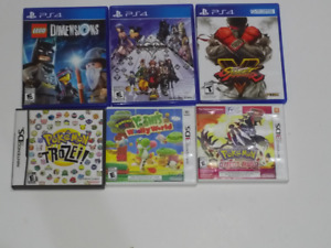 PS4 + DS / 3DS Video Games