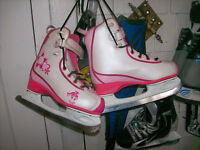 GIRLS CCM FIGURE SKATES SIZES 1,2,3,4,AND WOMAN'S SIZE 11