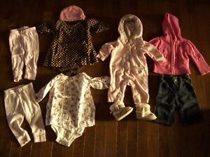 Old Navy Clothing & Penman Boots, Girls 0-3 months